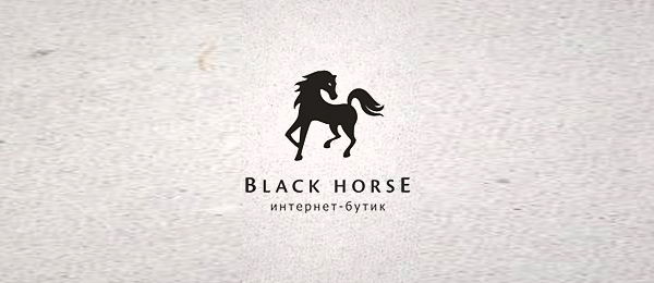 black horse logo design 12