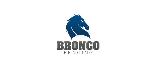 blue horse logo bronco fencing 29