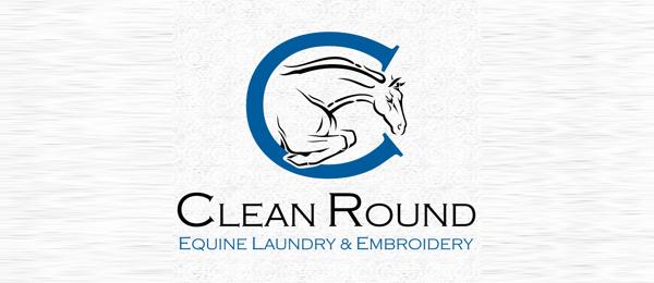 horse logo clean round 32