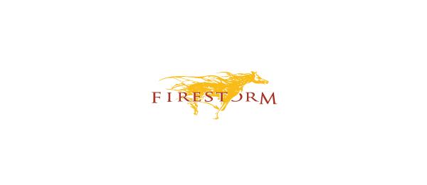 horse logo fire storm 28