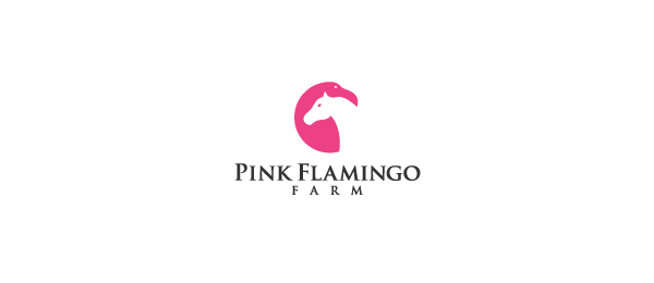 horse logo pink flamingo farms 45