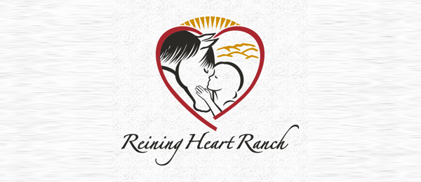 horse logo reining heart ranch 30
