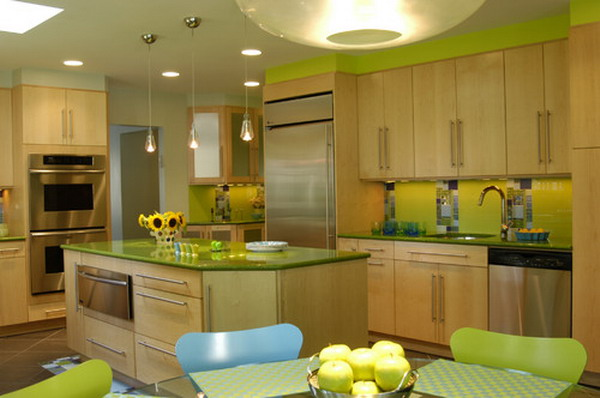 eclectic kitchen idea 23