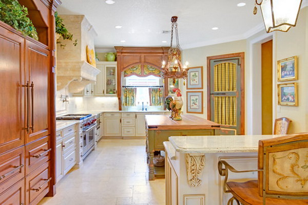 transitional kitchen idea 50
