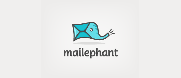 blue elephant mail logo 16