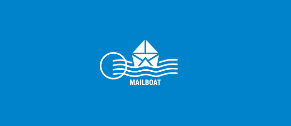 mail boat on water logo 9