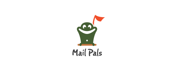 mail logo green frog pals 10