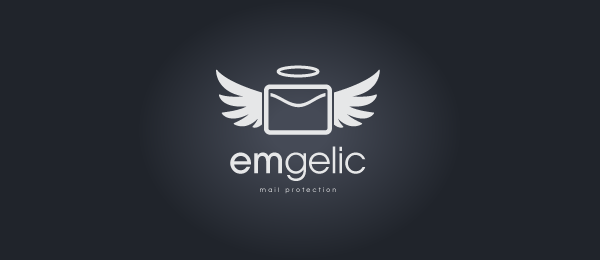mail logo wings angel emgelic 23