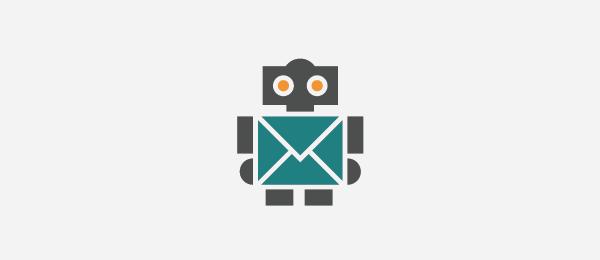 robot mail logo push bots 51