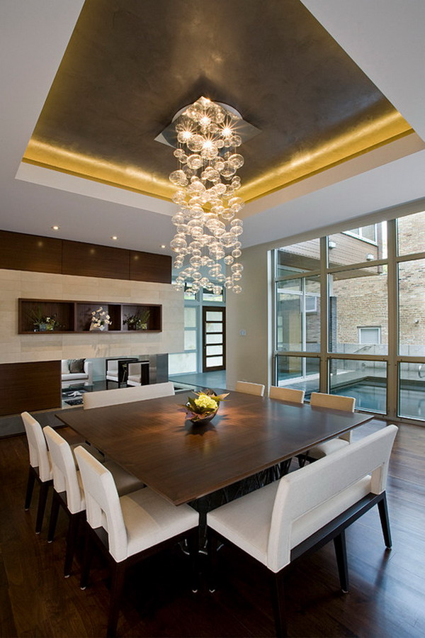40 beautiful modern dining room ideas hative for Small contemporary dining room ideas
