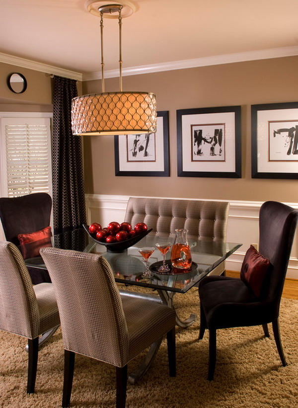 for a small dining room as the room will instantly double in size