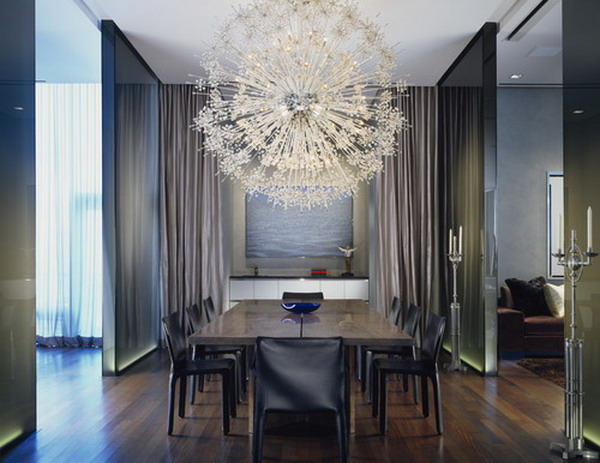 40 beautiful modern dining room ideas hative for Beautiful dining room chandeliers