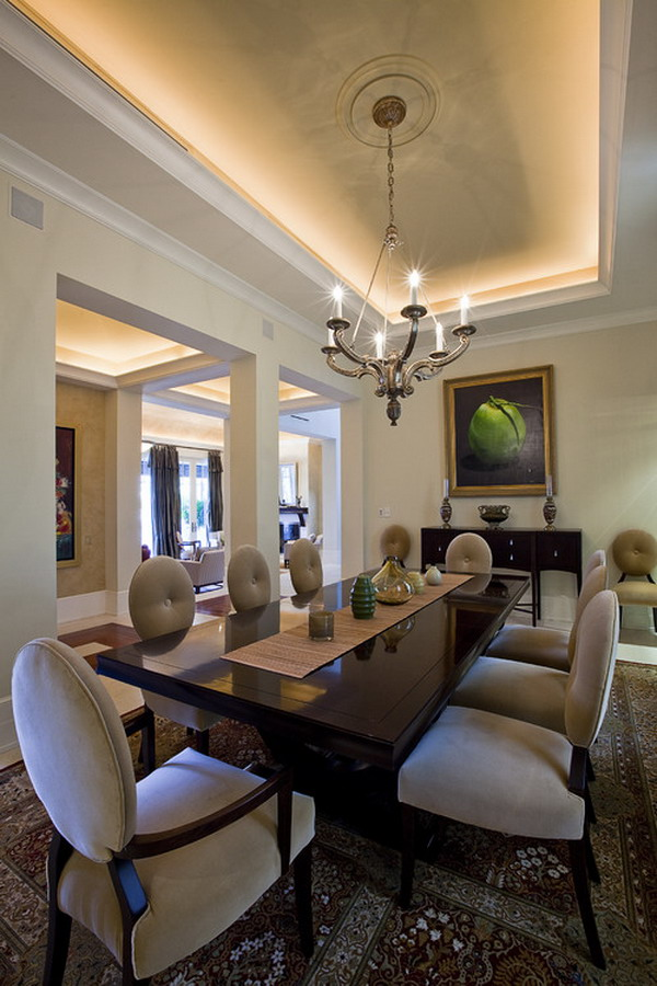 9 Stylish Tray Ceiling Ideas For Different Rooms: 40+ Beautiful Modern Dining Room Ideas