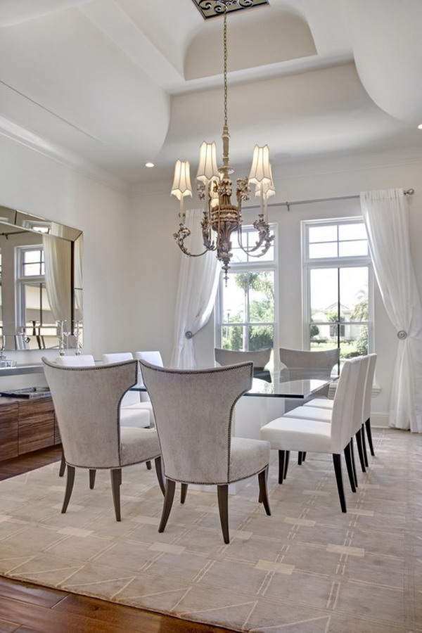 40 beautiful modern dining room ideas hative for Elegant dining room decor