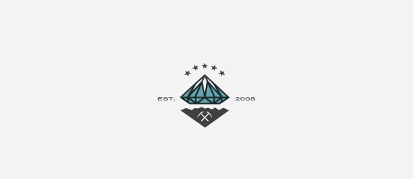 diamond hill logo prospector design 48
