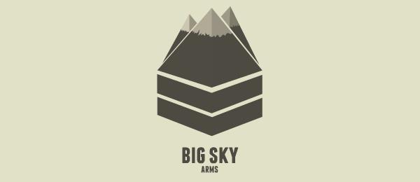 mountain logo big sky arms 23