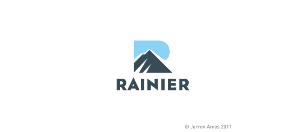 mountain logo rainier r typo 5