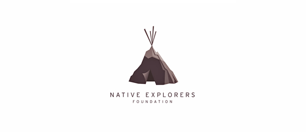 mountain teepee idea logo 9