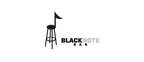black note bar music logo 10