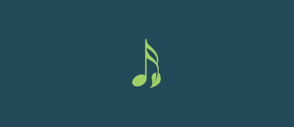 leaf music note logo 25