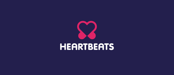 music logo heart beats 1