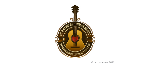 music logo heart guitar 7