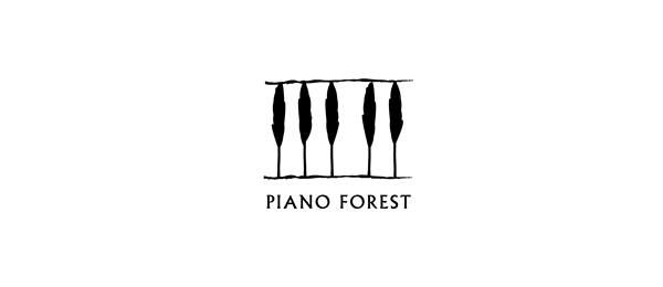 music logo piano forest 33