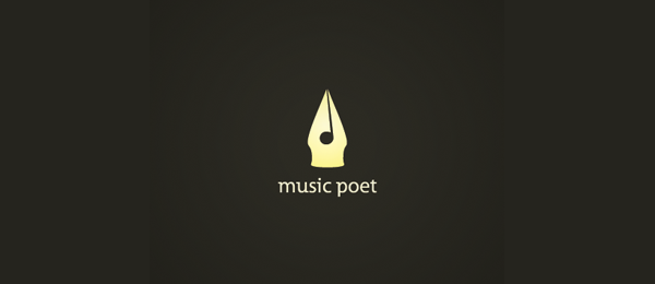 music poet logo idea 41