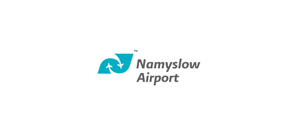 negative space logo airport 38