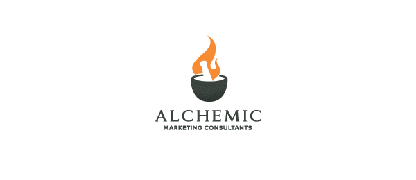 negative space logo alchemic 30