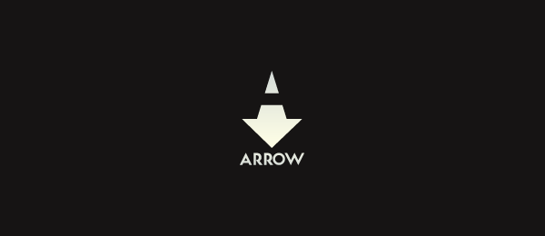 negative space logo arrow 32