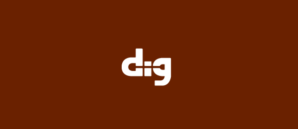 negative space logo dig shovel 9