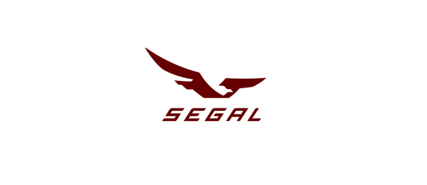 negative space logo eagle 28