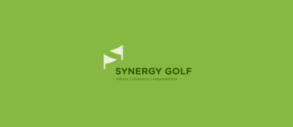 negative space logo golf 18