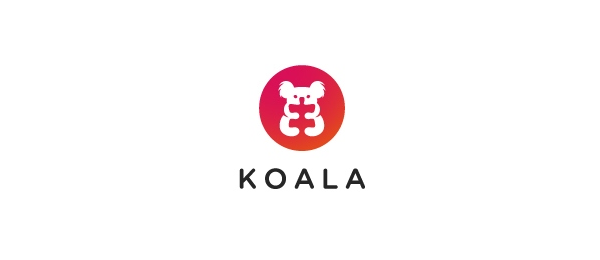 negative space logo koala 37