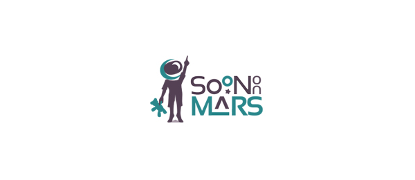 negative space logo mars 33