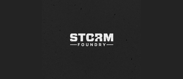 negative space logo storm foundry 34