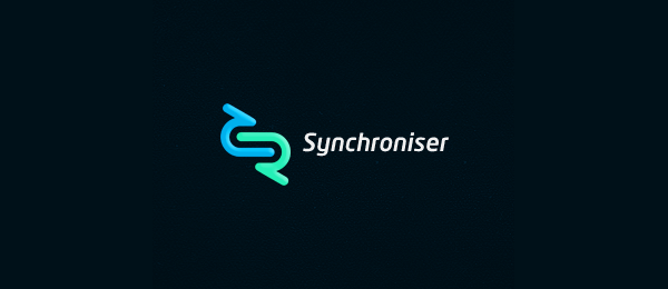 negative space logo synchroniser 52