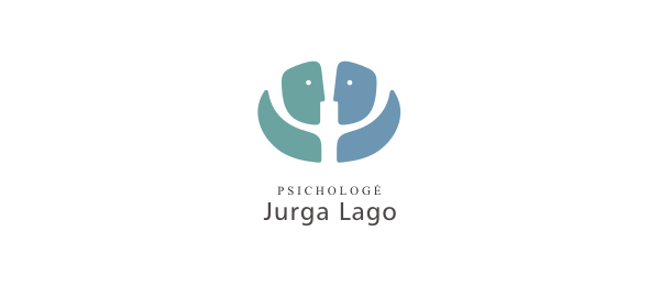 psychologist negative space logo 25