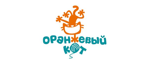 orange cat logo idea 20