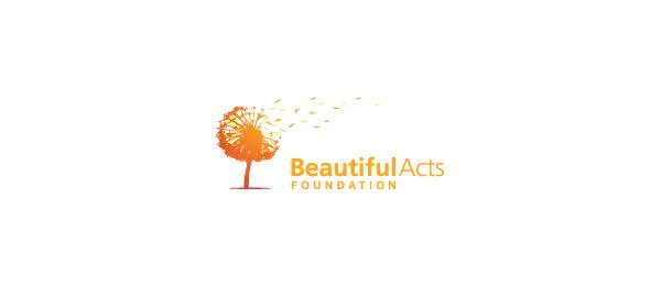 orange dandelion logo idea 28