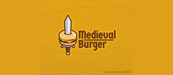 orange logo medieval burger 10