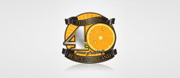 orange logo rubex 40 years 44