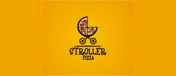 orange logo stroller pizza 8