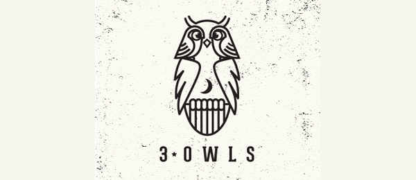 3 owls logo idea 4