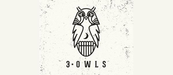 3 owls logo idea 4
