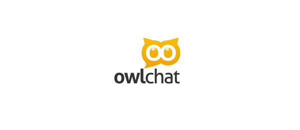 owl chat logo idea 34