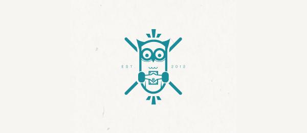 owl skate logo design 7