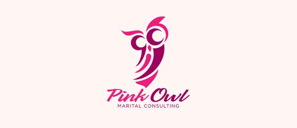 pink owl logo 39