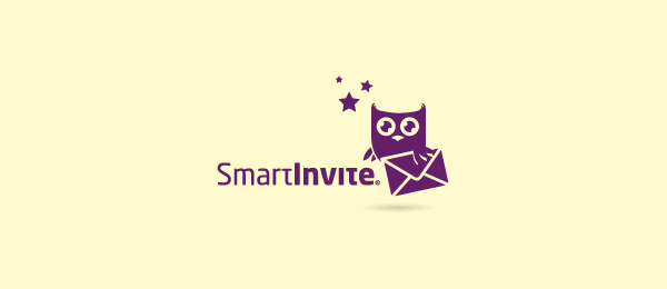 purple owl logo smart invite 36